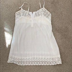 White lace detail tank top